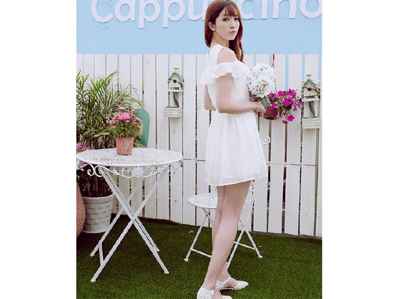 韓版甜美女裝優雅修身連衣裙