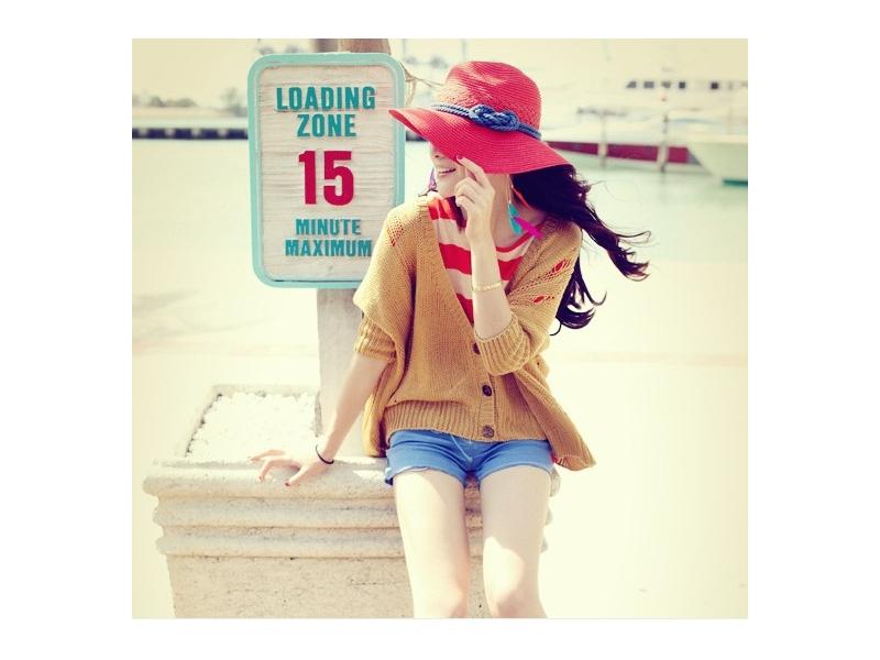 韓版潮大沿草帽潮涼帽女士遮陽帽大夏天太陽帽防曬沙灘帽