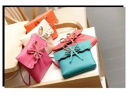 蝴蝶結鏤空包糖果色可愛女包單肩包斜跨包小包包
