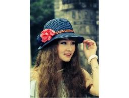 草帽夏天新款花朵帽子韓版太陽帽
