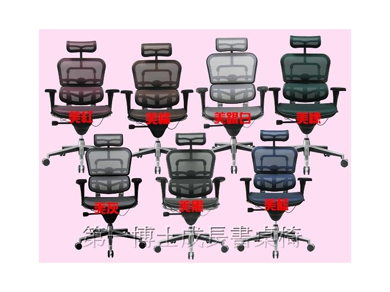 【第一博士成長書桌椅】科技業最愛-Ergohuman 111-時尚網椅