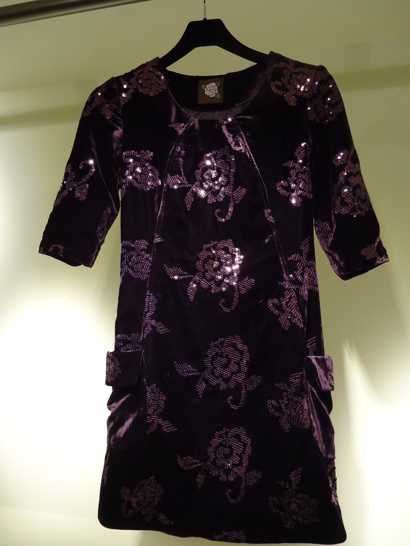 高級進口刺繡絲絨洋裝