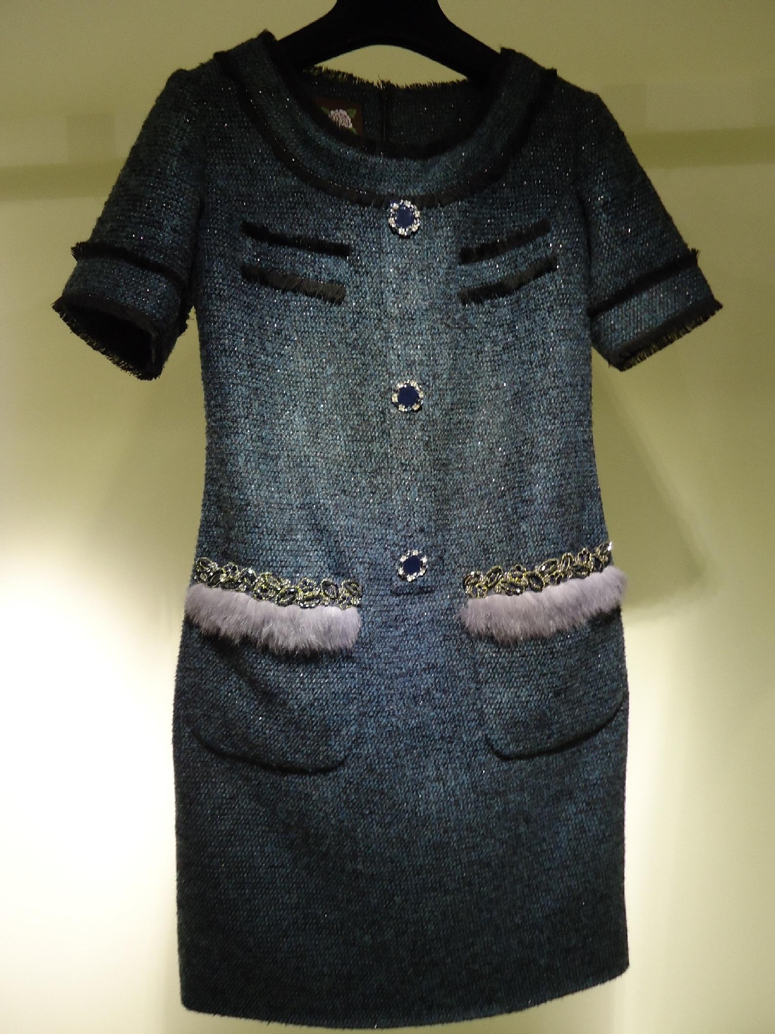 高級毛料訂制合身洋裝