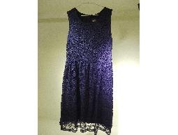 Tonlin彤綾精品~新品上市~圓領變形蟲針織蕾絲背心洋裝