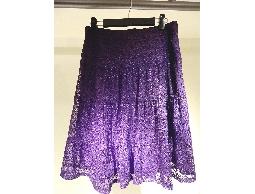 Tonlin彤綾精品~不撞衫~紫色四層網紗刺繡蛋糕裙