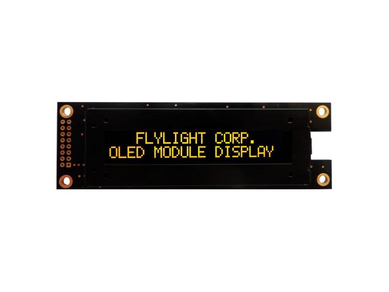 翼光科技 2002A 黃光 OLED 顯示器