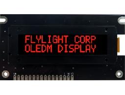 翼光科技 1602A 紅光 OLED 顯示器