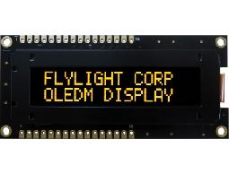 翼光科技 1602B 黃光 OLED 顯示器