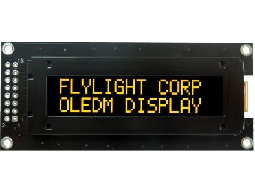 翼光科技 1602C 黃光 OLED 顯示器