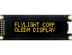 翼光科技 1602D 黃光 OLED 顯示器