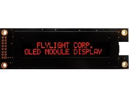 翼光科技 2002A 紅光 OLED 顯示器