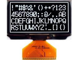 翼光科技 12864A 白光 OLED 顯示器