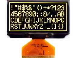 翼光科技 12864A 黃光 OLED 顯示器
