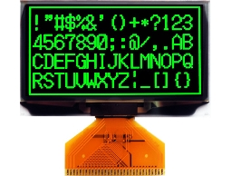 翼光科技 12864A 綠光 OLED 顯示器