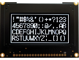 翼光科技 12864G 白光 OLED 顯示器