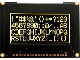 翼光科技 12864G 黃光 OLED 顯示器