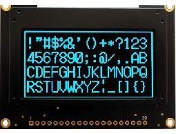 翼光科技 12864G 藍光 OLED 顯示器
