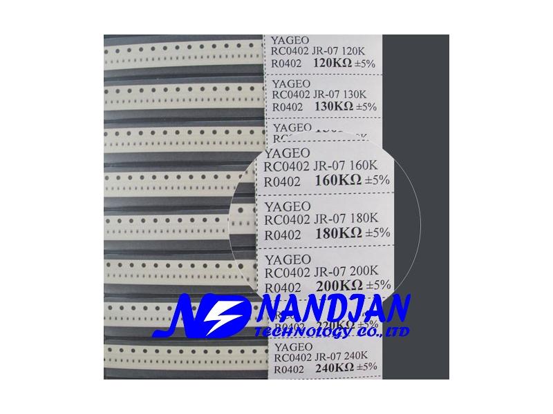 0402包裝 SMD 電阻5% 170種規格 電阻本