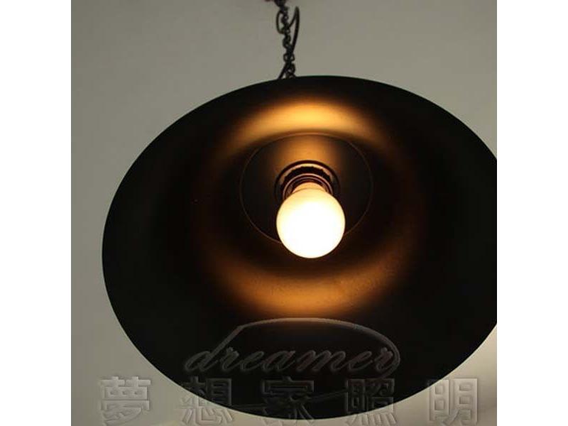 【夢想家照明】 Loft仿古美式工業復古風 仿古鐘型吊燈 亞光黑 復刻版