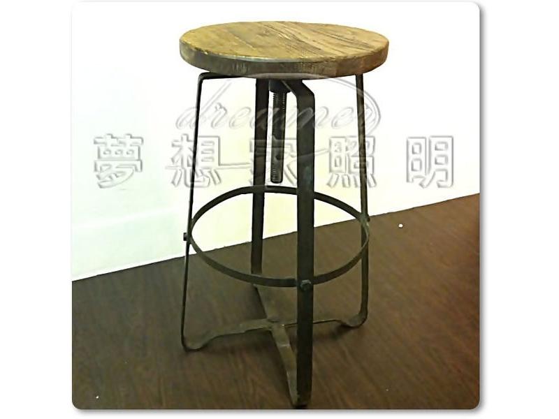 【夢想家照明】INDUSTRIAL BAR STOOL 美式鄉村工業風 X 升降吧椅 吧檯