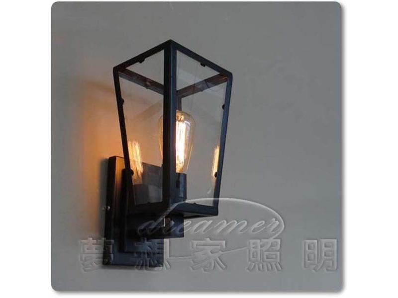【夢想家照明】Loft仿古工業復古風 黑框愛迪生壁燈 贈送愛迪生燈泡 復刻版