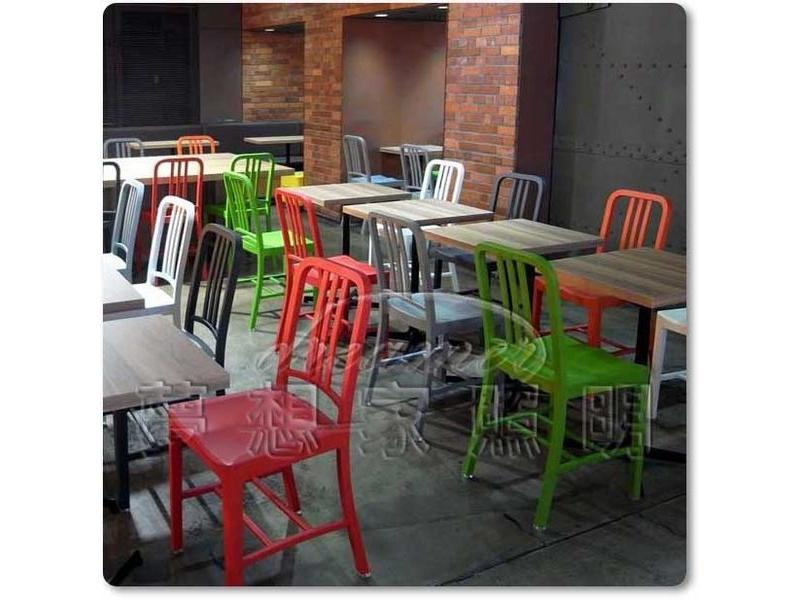 【夢想家照明】設計師款 工業風Emeco Navy Chair設計椅 餐椅 戶外椅 紅色