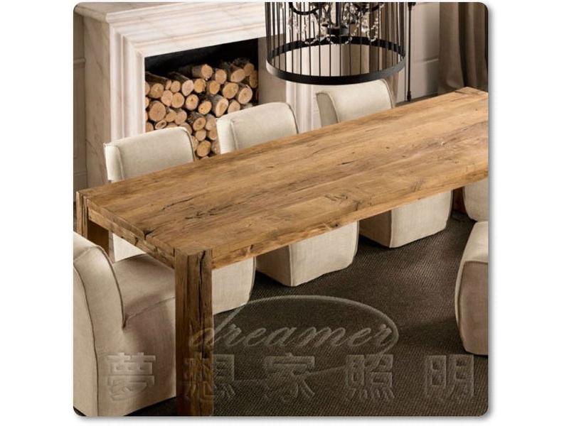 【夢想家照明】復古工業風 實木帕森斯長桌 餐桌 會議桌 復刻版 DL807032