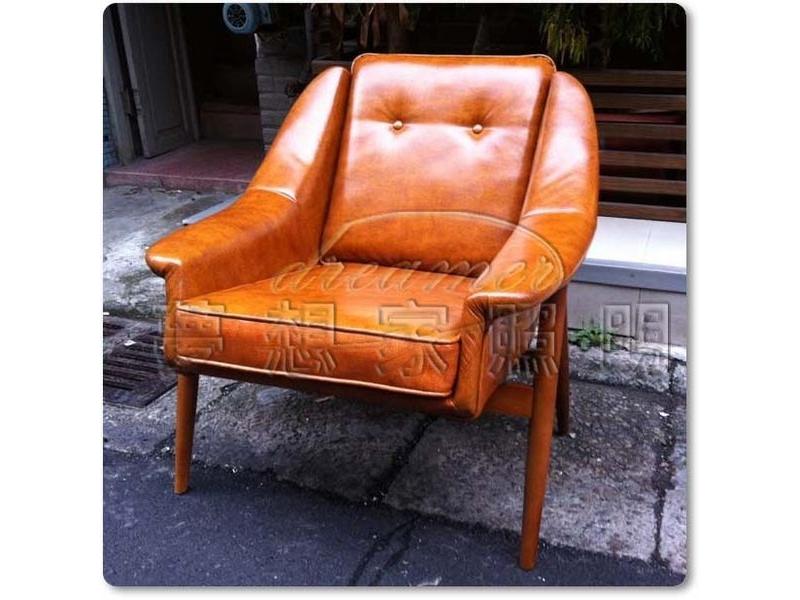 【夢想家照明】LOBBY CHAIR 復古單人沙發 休閒椅 復刻椅 DL808001