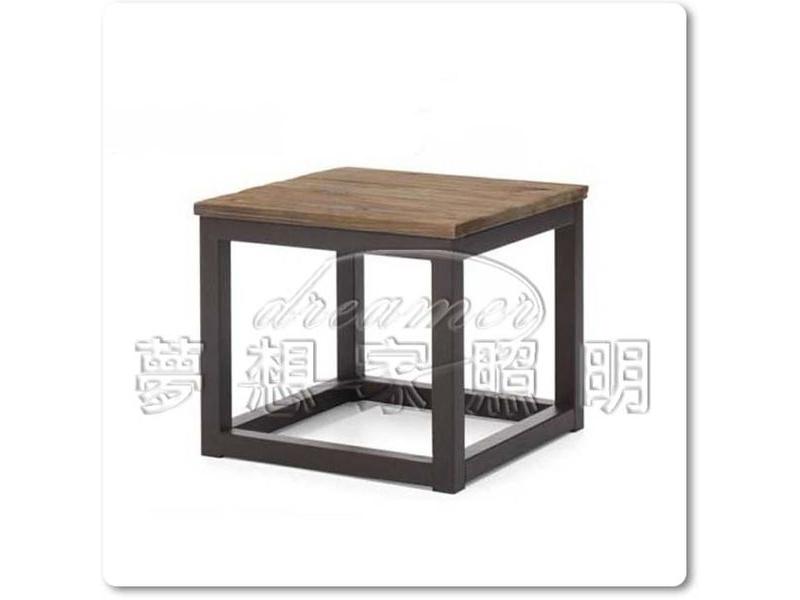 【夢想家照明】法式鄉村LOFT工業風格 仿古實木單件式邊几 茶几 復刻版 DL807022