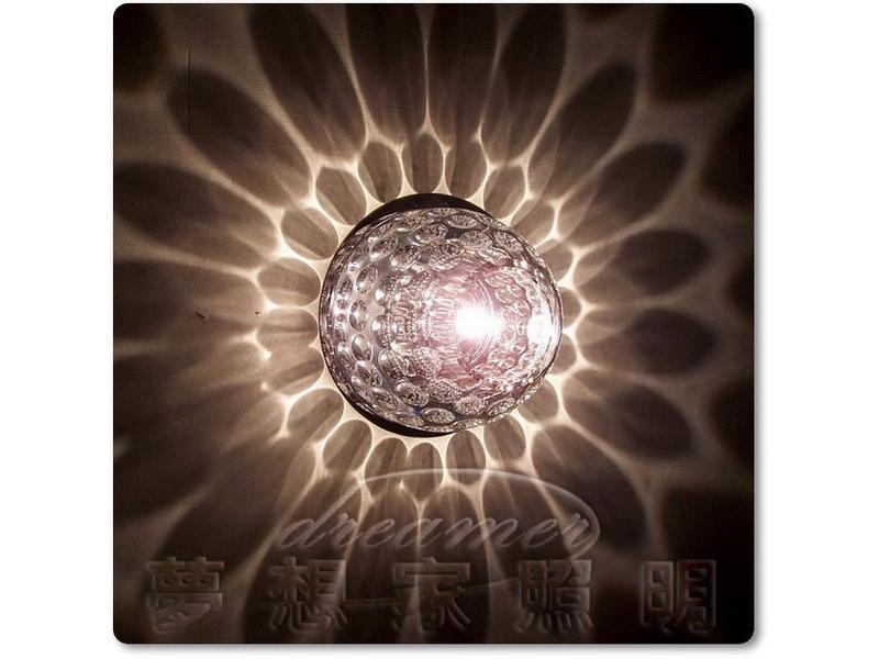 【夢想家照明】LED 投影水晶壁燈 走道燈 E款 贈送LED DHU110331-S01