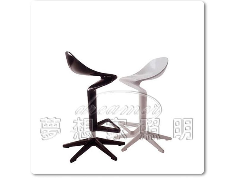 【夢想家照明】義大利設計款 創意造型湯匙高腳椅 白色 複刻版 DL806068-1