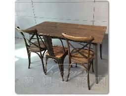 【夢想家照明】LOFT 法式復古工業風 實木仿舊色鐵桌 餐桌 工作桌 書桌 長度160公分