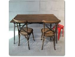 【夢想家照明】LOFT 法式復古工業風 實木仿舊色鐵桌 餐桌 工作桌 書桌 長度160cm