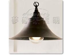 【夢想家照明】 設計師的燈款 Loft仿古美式工業復古風 仿古鐵鏽鐘型吊燈 復刻版