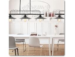 【夢想家照明】 設計師的燈款 Loft仿古工業復古風 三燈直排吊燈 復刻版