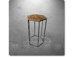 【夢想家照明】 Loft仿古美式鄉村 工業復古風 仿古原木六角型咖啡桌 茶几 大款