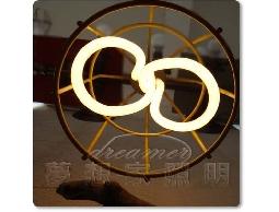 【夢想家照明】Loft 倉庫風 復古工業鐵網吊燈 黃色 復刻版