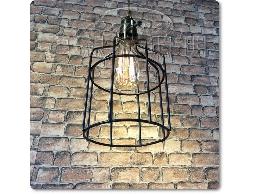 【夢想家照明】Loft 工業 倉庫風 復古工業鐵網吊燈 餐吊燈 黑色 復刻版