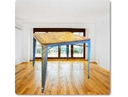 【夢想家照明】LOFT 法國復古工業風tolix 碳化帶木板餐桌 書桌 銀色 商空 復刻版