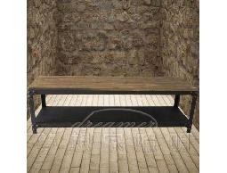 【夢想家照明】法式鄉村LOFT工業風格 榆木鑄黑鐵茶几 長凳 復刻版 DL807004