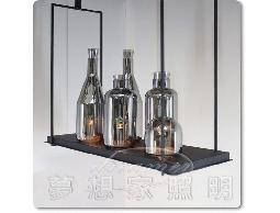 【夢想家照明】復古式酒瓶蠟燭吊燈 加贈3W LED杯燈 煙燻色 DL801-364-2