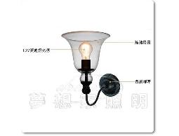 【夢想家照明】復古風 玻璃罩 水晶鈴鐺壁燈 復刻版 DL803018