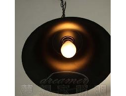 【夢想家照明】 Loft仿古美式工業復古風 仿古鐘型吊燈 亞光黑 復刻版 DL801070