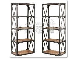 【夢想家照明】仿古鑄黑鐵實木書櫃 工業書架 鉚釘書架 復刻版 DL809029