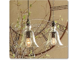 【夢想家照明】復古風 玻璃罩 水晶鈴鐺吊燈 DL801025