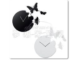 【夢想家照明】設計款 蝴蝶掛鐘/壁鐘造型鐘 黑色 復刻版 DL809-111B