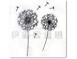 【夢想家照明】設計款 蒲公英掛鐘 壁燈 造型鐘 黑色 復刻版 DL809-120B