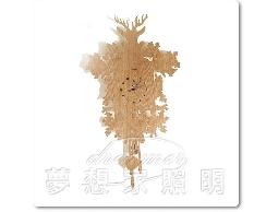 【夢想家照明】木質淺色木紋咕咕鐘 掛鐘 復刻版 DL809012