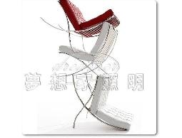 【夢想家照明】巴塞隆納pu皮革沙發椅 含踏墊 白複刻版 DL808005-1