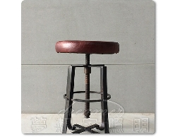 【夢想家照明】仿舊 真皮軟墊X升降吧檯椅 吧椅 深咖啡座墊 DL806106-2